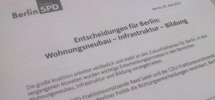 Entscheidungen für Berlin: Wohnungsneubau – Infrastruktur – Bildung