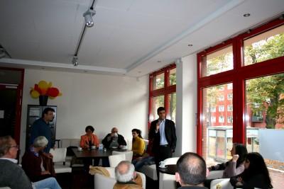 Raed Saleh beim Bürgerforum Neustadt