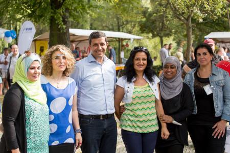 Raed Saleh, SPD mit den Spandauer Frauen für Familien