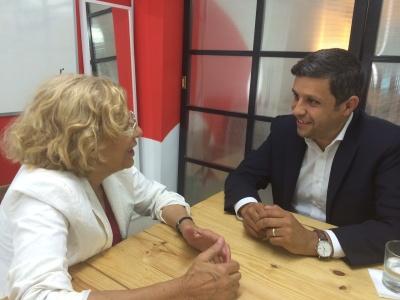 Angeregter Austausch: Raed Saleh und Manuela Carmena