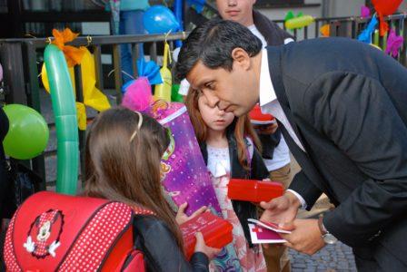 Raed Saleh an der Grundschule