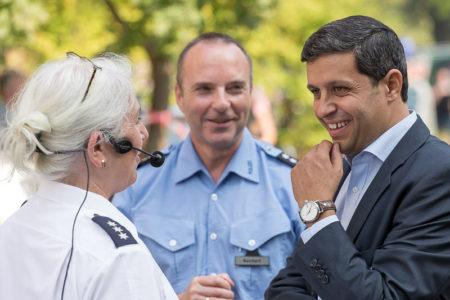 Raed Saleh wirbt für mehr Respekt vor der Polizei