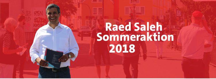 Raed Salehs Sommertour beginnt am 02.07.2018