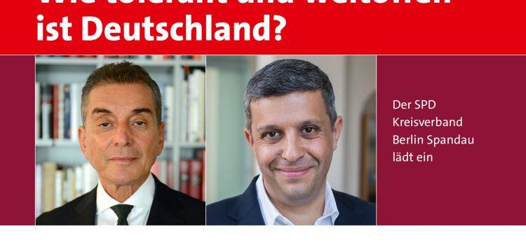 Wie tolerant und weltoffen ist Deutschland? Raed Saleh diskutiert mit Prof. Dr. Michel Friedman