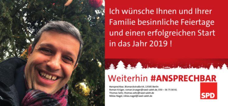 Raed Saleh wünscht frohe Weihnachten !