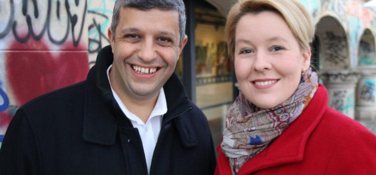 Franziska Giffey und Raed Saleh kandidieren als Vorsitzende der stolzen Berliner SPD