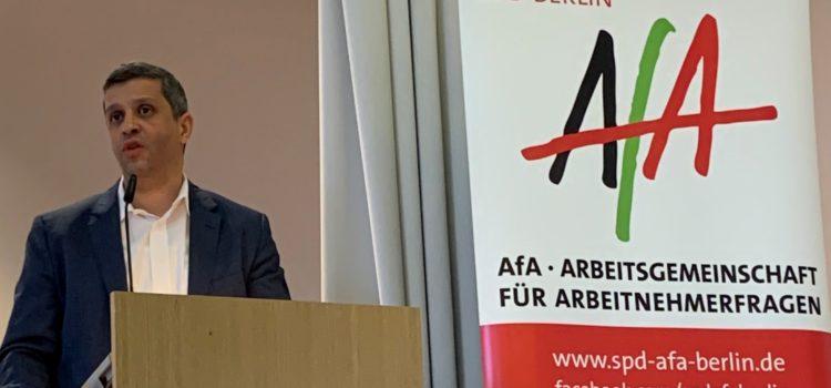 Landeskonferenz der AG für Arbeitnehmerfragen in der SPD nominiert Saleh und Giffey für den Landesvorsitz