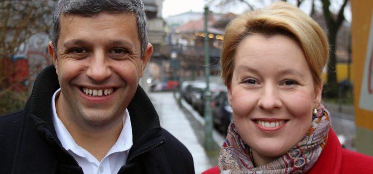 Raed Saleh und Franziska Giffey von der AGS für den Landesvorsitz der SPD nominiert