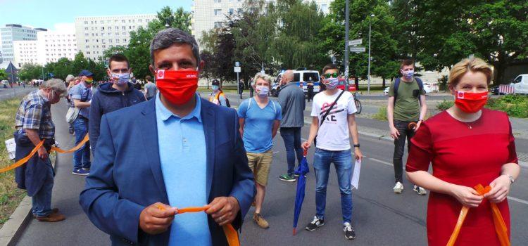 Raed Saleh bei der Unteilbar-Demo