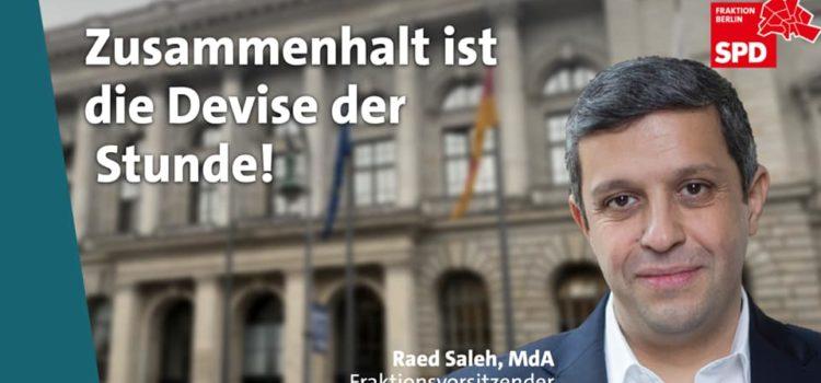 Raed Saleh spricht im Parlament zur Corona-Verordnung